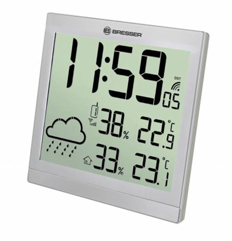 Bresser TemeoTrend JC LCD RC Weather Station-silve