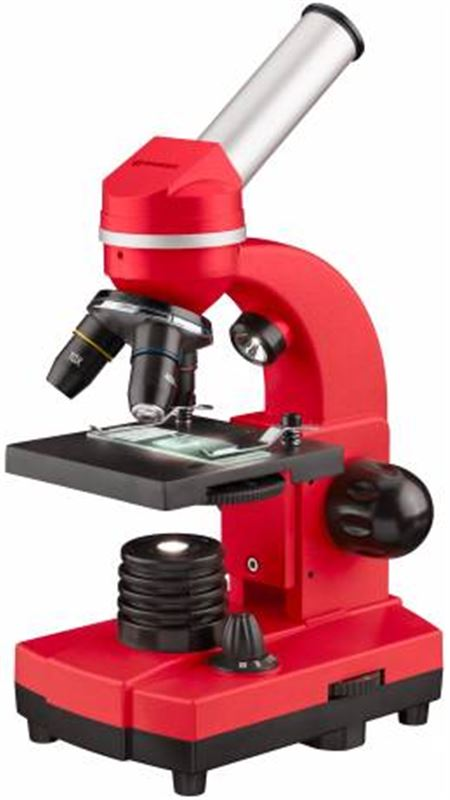Bresser Junior Student Biolux SEL Microscope, red
