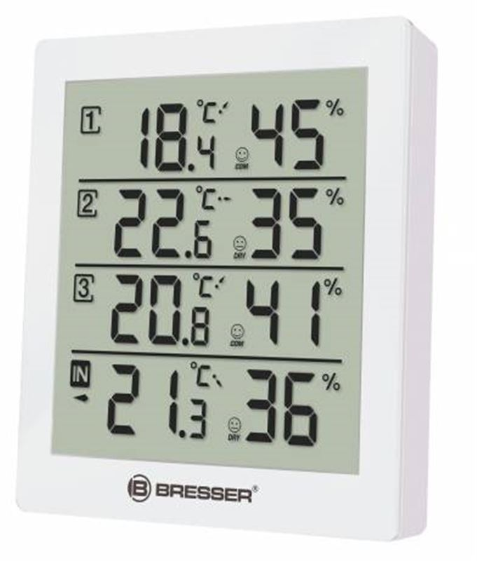 Bresser Temeo Hygro Quadro Weather Station-white
