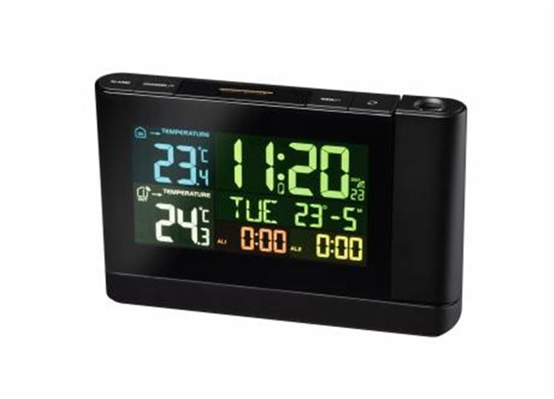 Bresser Projection Clock with Color Display-black